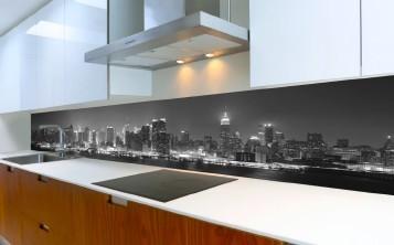 Küchenrückwand mit eigenem Bild aus Sicherheitsglas nach Maß