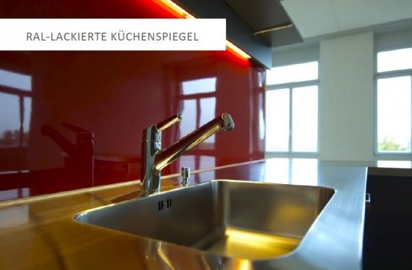 Küchenrückwand Echtglas in RAL Farbtönen