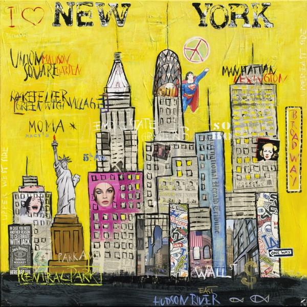 Design Akustikbild New York Kathrin Thiede nach Maß