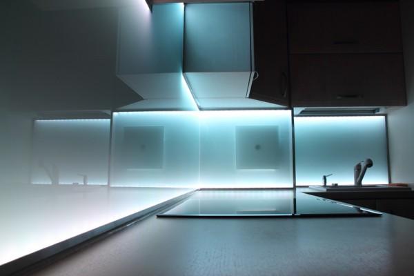 Küchenrückwand Satiniert Weissglas RAL lackiert