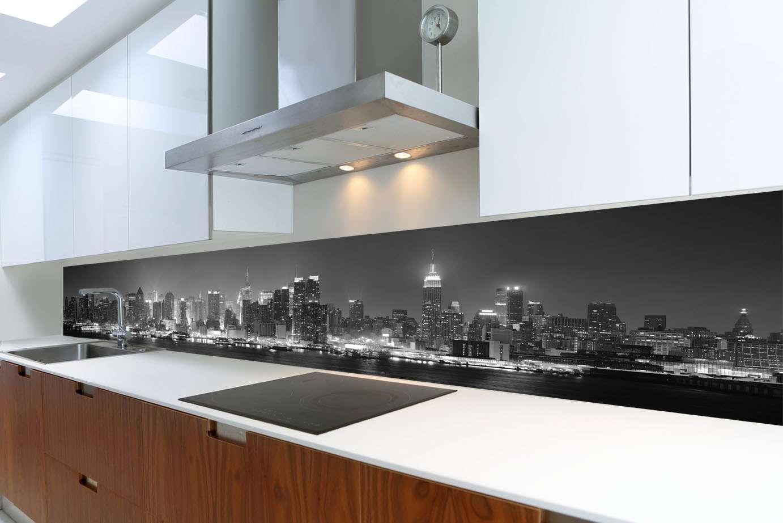 Awesome Küche Spritzschutz Wand Pictures House Design Ideas Alu ...
