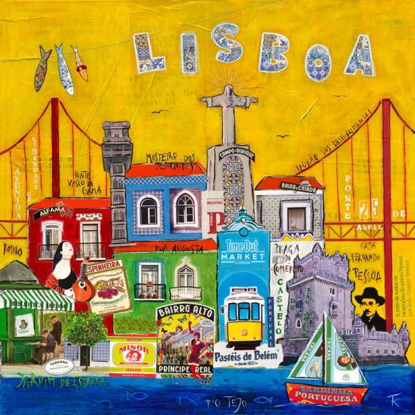 Design Akustikbild Lissabon Kathrin Thiede nach Maß