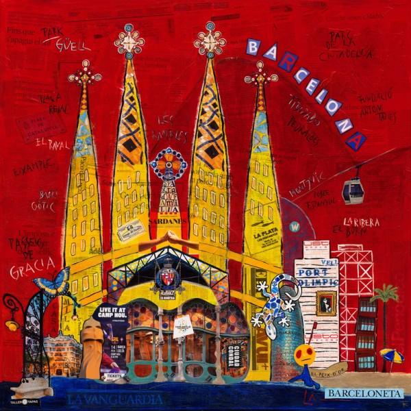 Design Akustikbild Barcelona Kathrin Thiede nach Maß